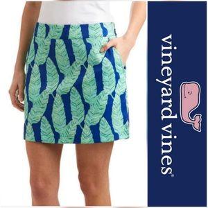 NWOT* Vineyard Vines Royal Ocean Palm Leaf Skort